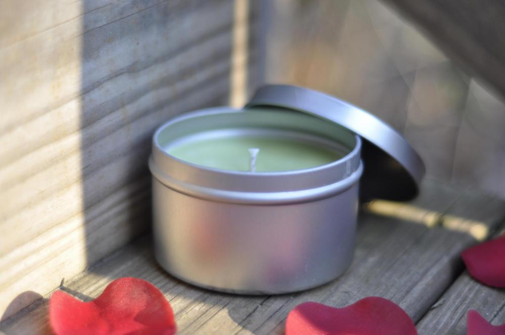 Rosemary Soy Candle 8 ounce tin, just in time for spring